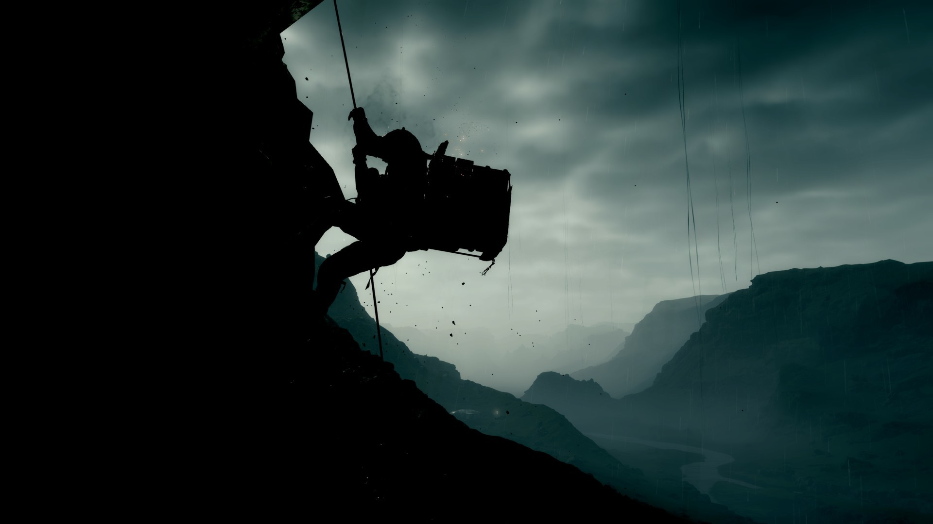 (Username: LaFrite) This shot is cool. The dark clouds...and the silhouette of Sam, risking his life trying to overcome the obstacles. - Matsuhana
